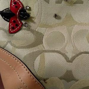 Coach Bags - Coach Ladybug Applique Optic Signature Hobo #6723